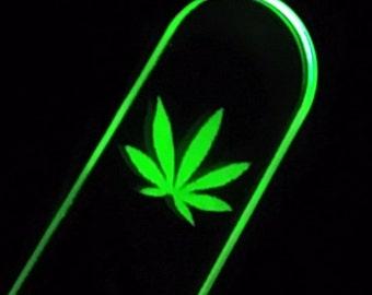 Impact-sensitive - green LED - acrylic paddle - 4/20 - LIMITED STOCK!