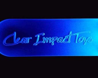 LED acrylic paddles - impact sensitive or rave flash - CUSTOMIZABLE!