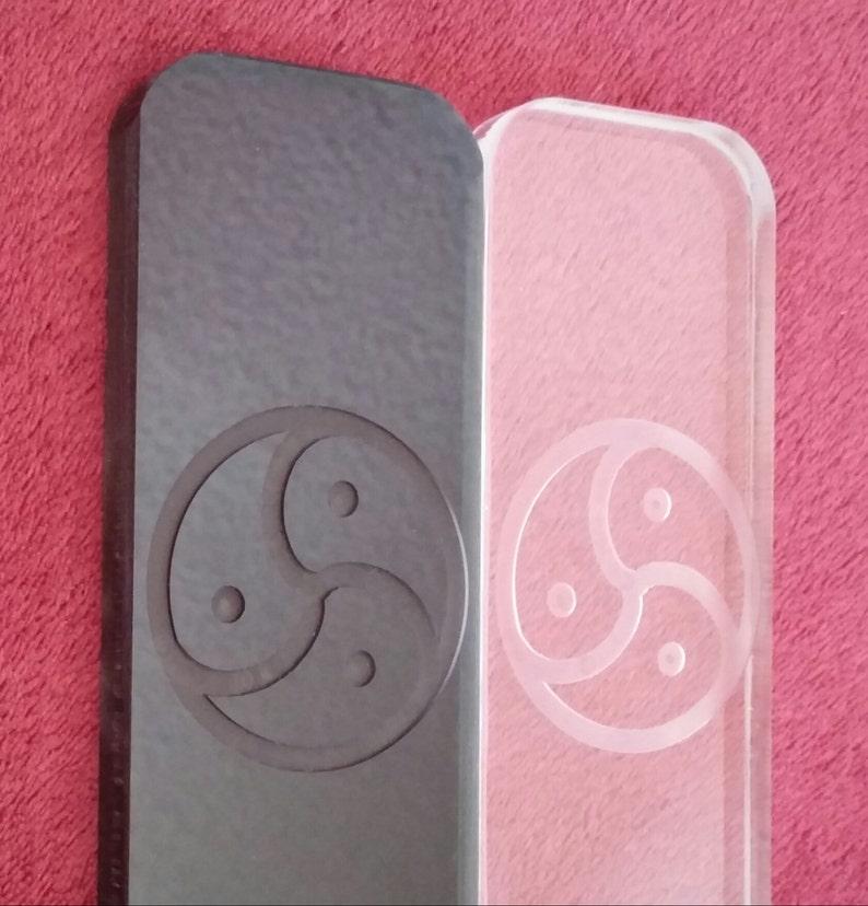 Smoke or Clear Acrylic Paddle  Fratboy  Symbols & Text image 0