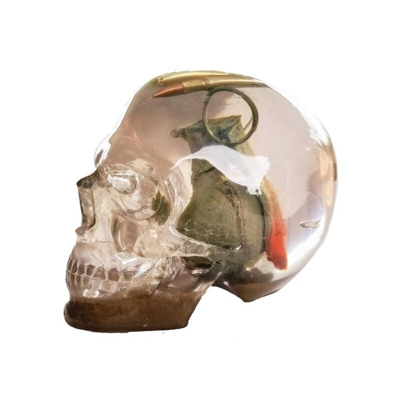 Mind Blowing Grenade in Skull Sculpture with Bullets, Skull Décor, Skull  Replica, Army Gift, Shrapnel, Frag Grenade, Guns, Ammo,
