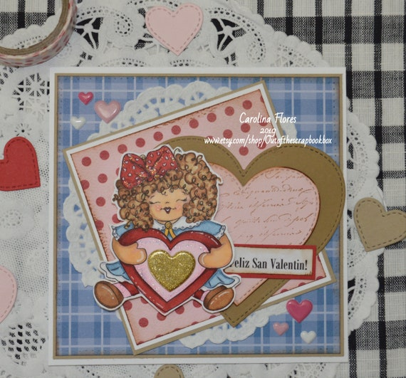 San Valentino Shabby Chic.Valentine S Cards Cards For Her Shabby Chic Cards Handmade Gifts Handmade Cards Greeting Cards Whimsical Card Dolls Love Cards