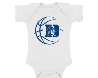 6285a9a93 Duke Blue Devils Basketball Baby Bodysuit or Toddler Shirt - White