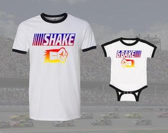 08fec440b Shake and Bake Matching Shirts, Racing Dad, Daddy and Baby Shirts, Dad and  Baby Fathers Day Shirts