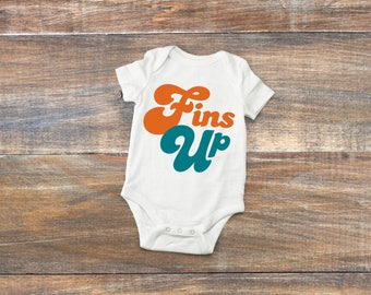 b9301151a Miami Dolphins Baby Fins Up Bodysuit or Toddler Shirt