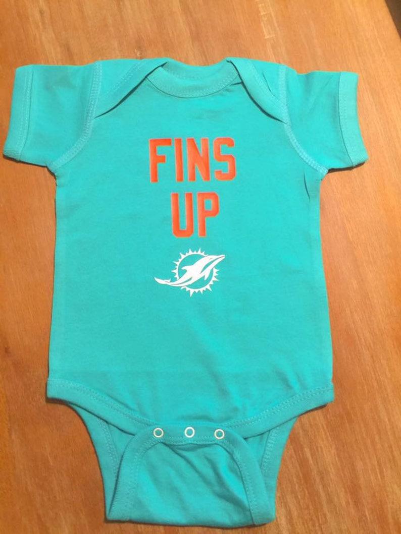 free shipping 43851 b7473 Miami Dolphins Baby Bodysuit or Toddler Shirt