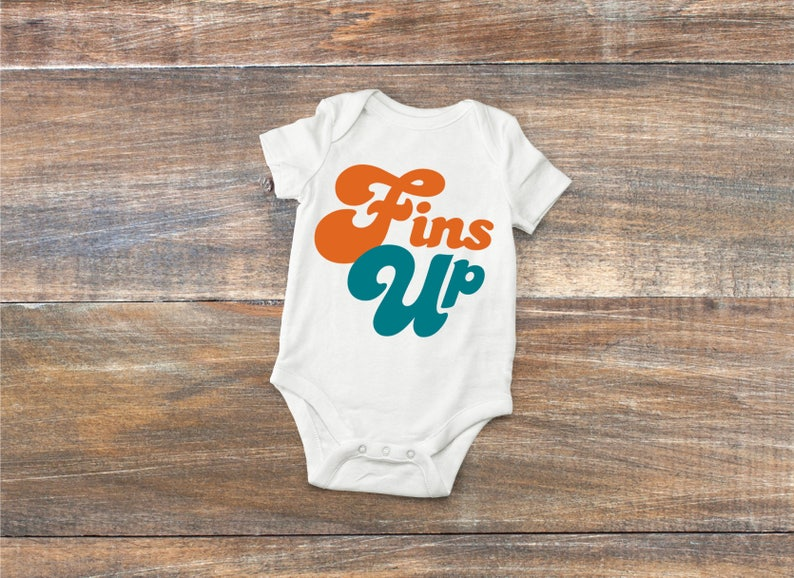 Miami Dolphins Baby Fins Up Bodysuit or Toddler Shirt  ecf5e6a4a