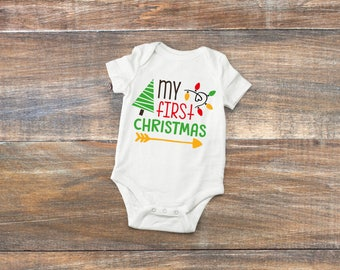 My First Christmas Baby Bodysuit or Toddler Shirt