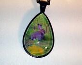 Rabbit Wildlife Photo Pendant Necklace