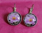 Pink Japanese Anemone Earrings