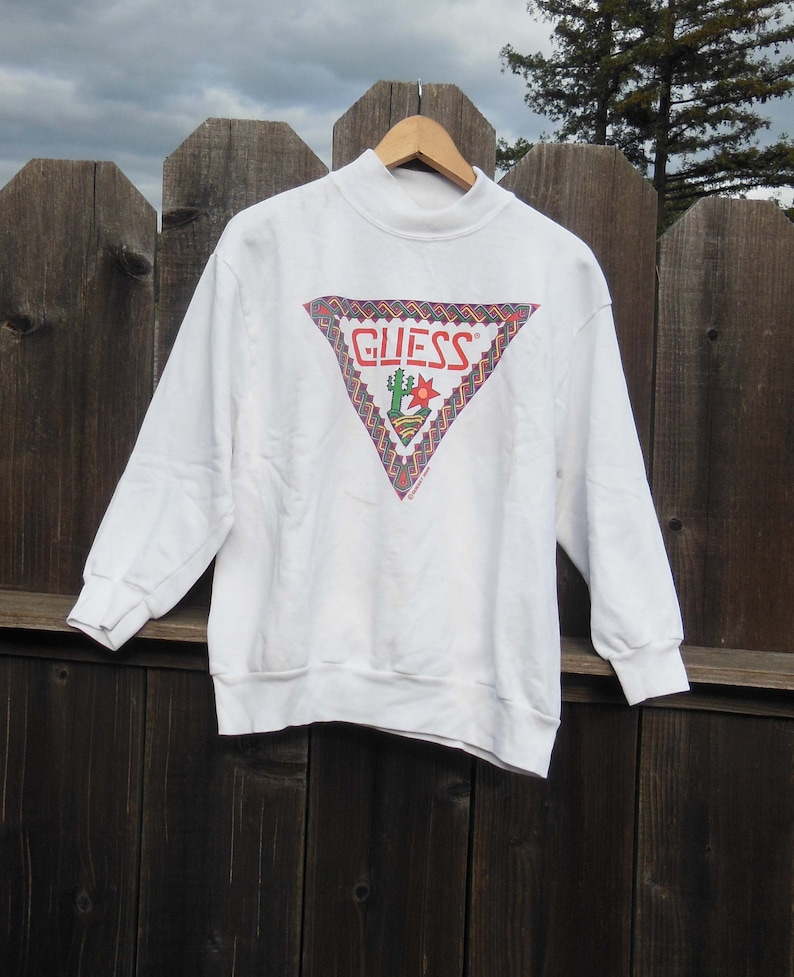 b39db2b8d5e4 80s vintage Guess sweatshirt / designer name brand Guess | Etsy