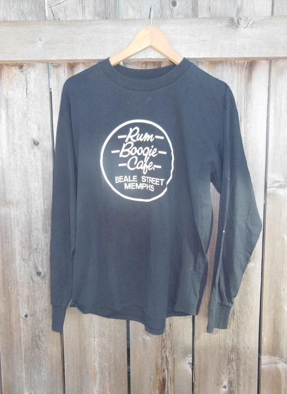 80s vintage Rum Boogie Cafe long sleeve t shirt   Memphis   Etsy 0f2ec8647c3a