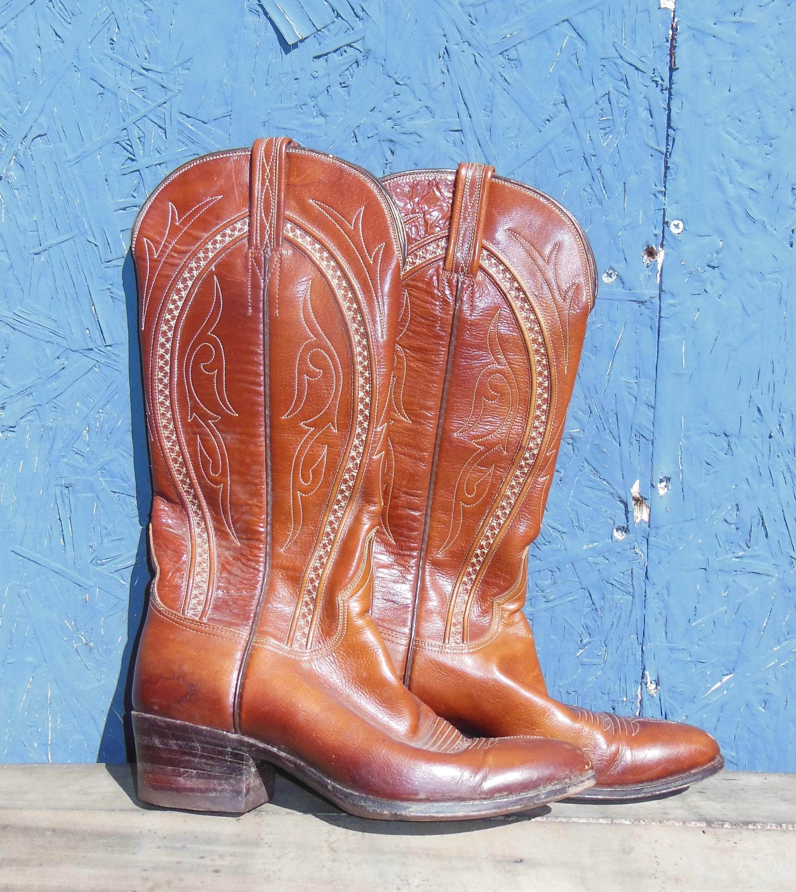 RESERVED for Sara Vintage Leather Boots Vintage 70s Boots
