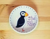 Stud Puffin Bowl, Puffin Dish, Funny Puffin Pun, Puffin Tea Bag Holder, Animal Puns, Funny Animal Pun, Puffin Ring Dish, Puffin Spoon Rest