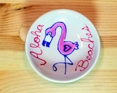 Aloha Beaches Bowl, Funny Flamingo Bowl, Flamingo Tea Bag Rest, Animal Puns, Flamingo Spoon Rest, Flamingo Soy Sauce Bowl, Flamingo Ramekin