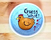 Guess What? Chicken Butt Dish, Funny Chicken Bowl, Chicken Tea Bag Rest, Chicken Spoon Rest, Funny Saying, Animal Puns, Chicken Pun