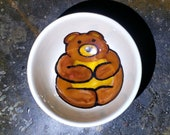 Bear Ceramic Bowl, Teddy Bear Ring Holder, Brown Bear Pottery, Bear Espresso Cup,