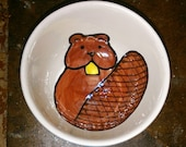 Beaver Ceramic Bowl, Small Sauce Dish, Animal Espresso Cup, Beaver Ring Holder, Small Serving Dish, Gifts under 15, Beaver Snack Bowl