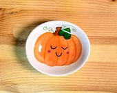 Sweet Pumpkin Bowl, Oval Pumpkin Bowl, Ceramic Pumpkin Bowl, Pumpkin Ring Dish, Pumpkin Ramekin, Autumn Themed Bowl, Autumn Pumpkin