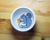 Squirrel Ceramic Bowl, Squirrel Ring Holder, Round Squirrel Bowl, Squirrel Snack Bowl, Ceramic Squirrel Dish, Squirrel Ramekin