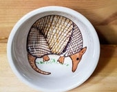 Armadillo Ceramic Bowl, Armadillo Sauce Dish, Ramekin, Armadillo Ring Holder, Ceramic Bowl, Armadillo Espresso Cup, Armadillo Pottery