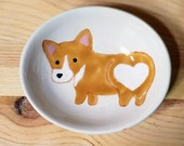 Corgi Bowl, Corgi Oval Dish, Corgi Heart Butt, Cute Dog, Dog Ceramic, Corgi Ceramic Bowl, Corgi Ring Holder, Corgi Spoon Rest