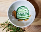 Turtle Ceramic Bowl, Small Sauce Dish, Turtle Condiment Bowl, Tortoise Inspired Snack Dish, Turtle Ring Holder, Turtle Cup, Tortoise