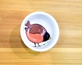 Robin Ceramic Bowl, Round Robin Bowl, American Robin Ring Holder, Robin Sauce Bowl, Robin Tea Cup, Small Robin Bowl, Tea Bag Holder