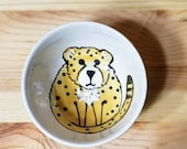 Cheetah Ceramic Bowl, Ceramic Sauce Dish, Ring Holder, Cheetah Condiment Dish, Animal Bowl, Animal Espresso Cup, Cheetah Kids Snack Bowl