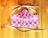 Geometric Pink and Red Washable Triple Layer Face Mask with Filter Included, Reusable Mask, Adjustable  Mask
