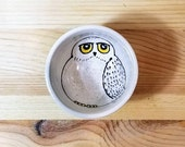 Snowy Owl Ceramic Bowl, White Owl Spoon Rest, Harry Potter Inspired Hedwig, White Owl, Hedwig Bowl, Hedwig Ring Holder, Ceramic Snowy Owl