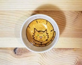 Orange Tabby Cat Ceramic Sauce Bowl, Orange Cat Pottery, Small Sauce Dish, Cat Bowl, Orange Tabby Cat Ring Holder, Cat Illustration
