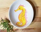 Seahorse Bowl, Ceramic Seahorse Dish, Condiment Dish, Sauce Bowl, Seahorse Ring Holder, Seahorse Pottery