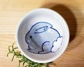 Bunny Dish, Bunny Ceramic Dish, Bunny Ring Holder, Blue Bunny Kids Snack Bowl, Bunny Espresso Cup, Ceramic Sauce Dish, Condiment Dish