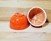 Orange Ceramic Bowl, Fruit Bowl, Orange Bowl, Orange Pottery, Orange Stacking Cups, Orange Ring Holder, Espresso Cup, Orange Snack Bowl