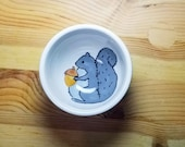 Squirrel Ceramic Bowl, Squirrel Ring Holder, Round Squirrel Bowl, Squirrel Snack Bowl, Ceramic Squirrel Dish, Squirrel Ramekin