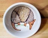 Armadillo Ceramic Bowl, Armadillo Sauce Dish, Ramekin, Armadillo Ring Holder, Ceramic Bowl, Armadillo Espresso Cup, Armadillo Pottery
