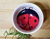 Ladybug Ceramic Bowl, Animal Inspired Sauce Dish, Ladybug Ring Holder, Ceramic Ring Holder, Ceramic Espresso Cup, Ladybug Art