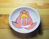 Walrus Bowl. Walrus Spoon Rest, Oval Walrus Bowl, Pink Walrus, Ceramic Walrus, Walrus Ring Holder, Walrus Pottery, Walrus Snack Dish