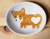 Corgi Bowl, Corgi Oval Dish, Corgi Heart Butt, Cute Dog, Dog Ceramic, Corgi Ceramic Bowl, Corgi Ring Holder, Corgi Spoon Rest