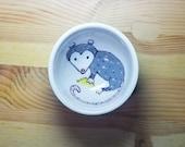 Possum with a Taco Bowl, Opossum Bowl, Ceramic Possum Bowl, Taco Bowl, Possum Ring Dish, Possum Ramekin, Cute Possum Bowl