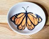 Monarch Butterfly Dish, Monarch Butterfly Bowl, Butterfly Spoon Rest, Monarch Butterfly Ring Holder, Monarch Butterfly Pottery
