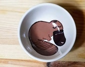 Platypus Ceramic Bowl, Platypus Small Bowl, Platypus Ring Holder, Platypus Snack Bowl, Platypus Ramekin, Platypus Art