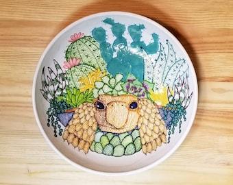 Surreal Succulent Tortoise Bowl, Tortoise Bowl, Succulent Inspired Bowl,