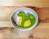 Dragon Oval Dish, Dragon Spoon Rest, Dragon Candy Dish, Dragon Condiment Dish, Dragon Ceramic Dish, Ceramic Olive Oil Serving Dish