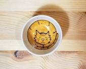 Orange Tabby Cat Ceramic Sauce Bowl, Orange Cat Pottery, Small Sauce Dish, Cat Bowl, Orange Tabby Cat Ring Holder, Cat Illustration