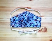 Pebble Patterned Fabric Face Mask, Washable Triple Layer Face Mask with Nose Wire and Adjustable Ties, Colorful Pebble Print