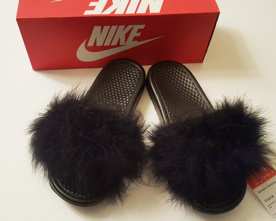 SALE Nike Fur Slides  f61ac61922c1