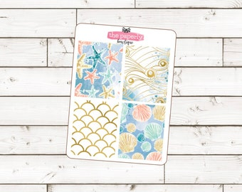 BY THE SEA || Big Book Of Bowtique Full Boxes for Erin Condren Life Planner
