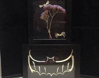 Bat bones shadowbox OR Bug bones shadow box