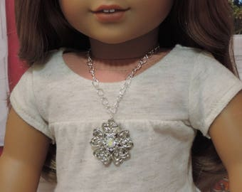Silver Sparkles Necklace for American Girl and other 18 inch dolls